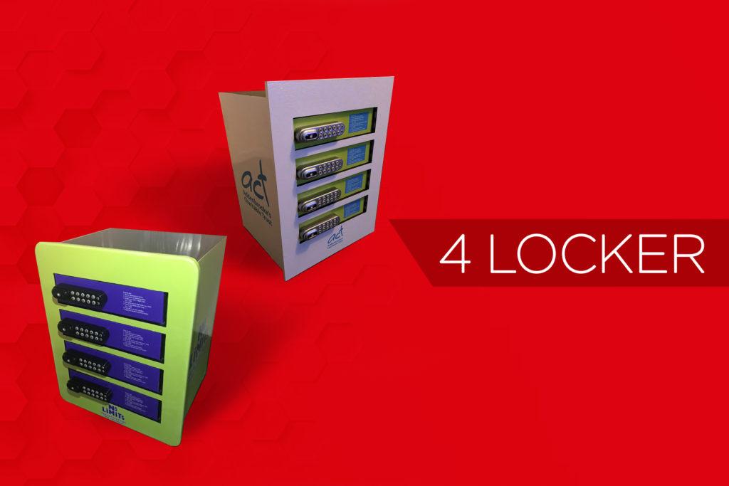 4 locker mobile phone charging station